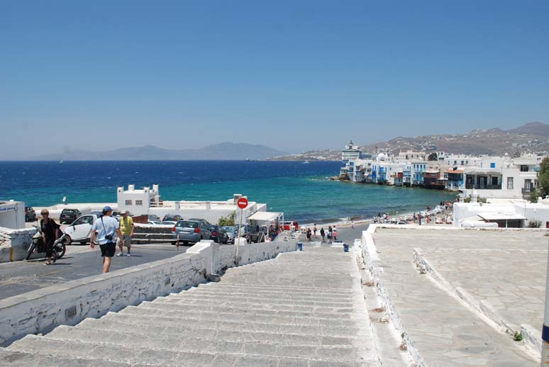 Mykonos, old town. They call it little Venice. It be more than little Venice. More beautiful in many ways.