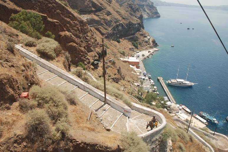 Port of Fira - from Town of Fira